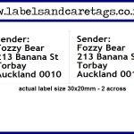 Small return address labels