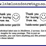 Small Thank You Labels