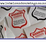 Alarm warning stickers