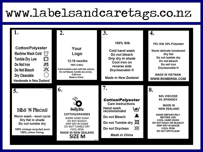 Clothing Care Labels X 100