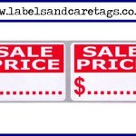 Red Sale Price Labels