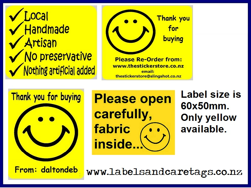Bright Yellow Thank You Labels