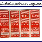 Red FAIL test tags